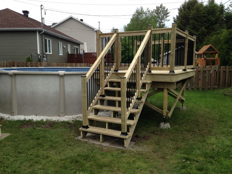 Construction ou r novation de patio qu bec for Plan pour deck de piscine